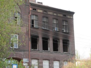 Budynek po pożarze