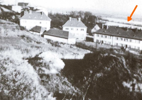 Kiebitzwerder widoczna w tle na dalszym planie, 1938 r. Źródło: K. Dummann, Stettin- Solzenhagen. Kratzwieck und Gotzlow.Ein Heimat- und Lesebuch, 1986.